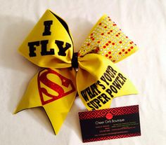 Superman Cheer Bow-- I FLY or I CHEER Superman Hair Bow on Etsy