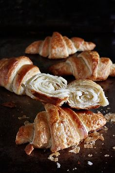 lovely and different croissant recipe-another use for my sourdough starter :)