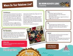 Beaver Lodge, Beaver Scouts, Adventure Map, Big Brown, Beavers, Cub Scouts, Citizenship, Outdoor Activities, Cubs