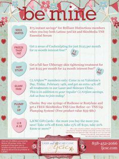 be-mine-ljcsc-feb-2014 #LJCSC @La Jolla Cosmetic Surgery #SanDiego #Beauty #Valentine #SALE