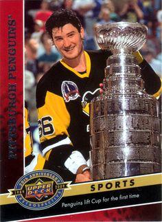 Mario Lemieux - Player's cards since 1985 - 2016 Hockey Shot, Ice Hockey Teams, Hockey Cards, Football Cards, Mike Bossy, Bobby Hull, Mario Lemieux, Hockey World Cup, Player Card