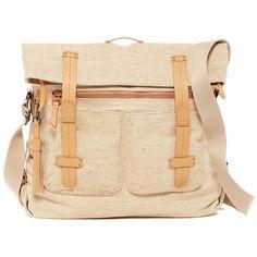 SHERPANI Ethos Petra Messenger Bag ($65) ❤ liked on Polyvore featuring bags, messenger bags, vachetta, handle bag, beige bag, sherpani messenger bag and strap bag