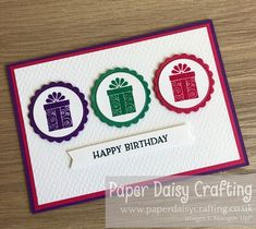 Paper Daisy Crafting: Ink, Stamp, Share September Blog Hop - Colour challenge Happy Birthday, Birthday Gifts, Card Birthday, Paper Daisy, Ink Stamps, Handmade Birthday Cards, September, Stampin Up Cards, Treats