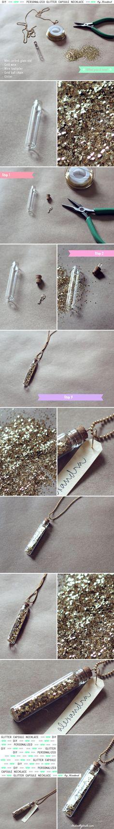 DIY Glitter Necklace, Favor In 1! + The Bachelorette Recap   The Knotty Bride™ Wedding Blog + Wedding Vendor Guide