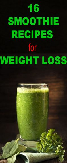 16 Healthy Smoothie Recipes for Weight Loss - Healthy Life Dream Yummy Healthy Snacks, Healthy Diet Tips, Healthy Smoothies, Healthy Drinks, Detox Drinks, Healthy Life, Healthy Breakfasts, Healthy Food, Healthy Living