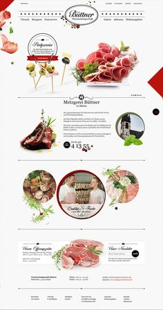 Food infographic - Euroweb designed the website of Büttn .- Food infographic – Euroweb gestaltete die Webseite vom Büttner Fleischerfachgeschäft Food infographic Euroweb designed the website of Büttner butcher shop - Design Web, Food Design, Menu Design, Layout Design, Website Design Inspiration, Graphic Design Inspiration, Interface Web, Interface Design, Screen Design