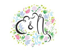 flowered monogram