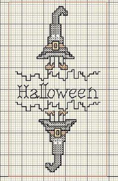 Halloween - xstitch, found on : http://croixdesateene.canalblog.com/archives/2008/10/26/11109702.html