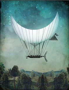 The Moon Ship by Catrin Welz-Stein.