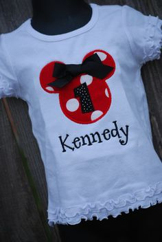 Personalized Minnie Mouse Shirt by sewglamourouscreatio on Etsy, $22.00