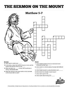 Paul's Missionary Journeys Sunday School Crossword Puzzles
