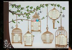 LARGE A1/ A2 Canvas Wedding Table/ Seating Plan ANTIQUE/ VINTAGE BIRD CAGES in Other Wedding Supplies   eBay