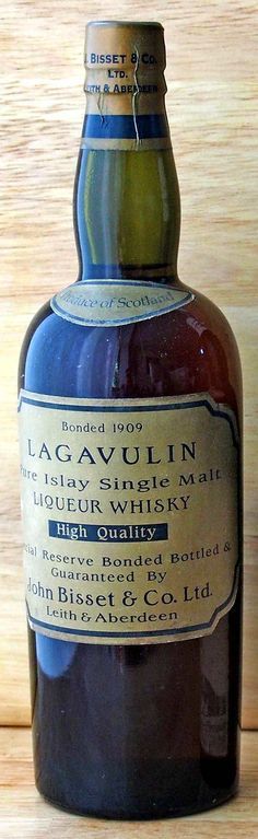 Lagavulin 1909  John Bisset & Co bottling. Half bottle. Finest&Rarest