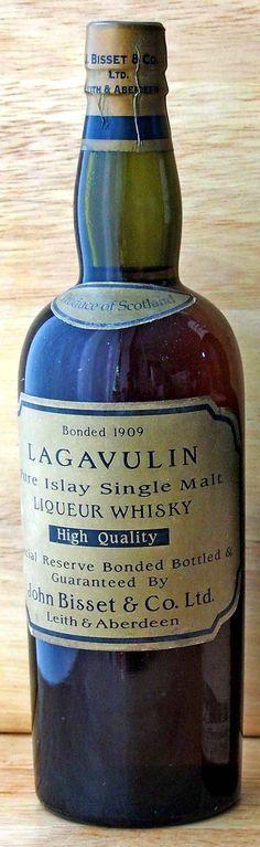 Lagavulin 1909 John Bisset & Co bottling. Half bottle. Finest&Rarest