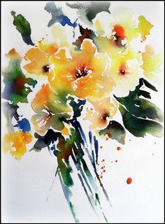 Aquarell gelbe Blumen