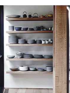 New kitchen modern shelves house tours Ideas Kitchen Interior, New Kitchen, Kitchen Decor, Kitchen Ideas, Kitchen Pantry, Kitchen Styling, Country Kitchen, Open Pantry, Kitchen Updates