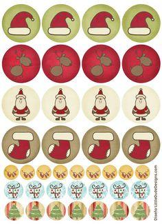 Tarjetas, etiquetas y pegatinas de navidad imprimibles de BlogDesign.es   Amor Maternal
