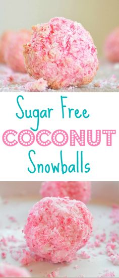 sugar free coconut snowball cookies