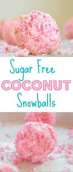 sugar free coconut snowballs