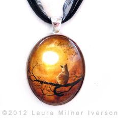 cat jewelry | Cat In Timeless Autumn Pendant Jewelry by Laura Iverson - Siamese Cat ...