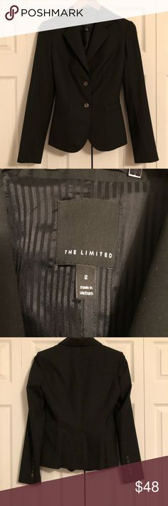 The Limited Luxe Black Suit Jacket 2 NWOT NWOT   ** I have matching skirt size 0 The Limited Jackets & Coats Blazers