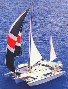 5ad385070fc Sailing is a old passion. This was the trimaran we sailed through the  Carribean on
