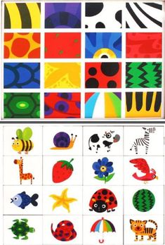 Colourful printable perfect for practicing visual discrimination