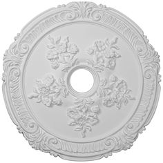 "Attica with Rose 26"" Wide Primed Round Ceiling Medallion - Style # 9T340 $80"