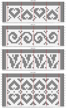 Wayuu Mochila pattern by Debra Malik Tapestry Crochet Patterns, Fair Isle Knitting Patterns, Fair Isle Pattern, Bead Loom Patterns, Crochet Stitches Patterns, Knitting Charts, Crochet Chart, Filet Crochet, Knitting Stitches
