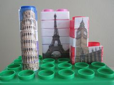 DIY landmark puzzles~ a use for those big blocks rarely played with