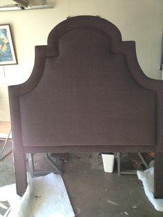 Custom Made Queen Size Upholstered Headboard.