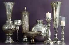Instantly add sparkle and shine to your everyday decor with antiqued mercury glass.
