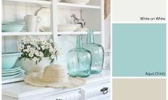 If you enjoy these vintage charm colors, pick up White on White, Aqua Chintz and White Sage.