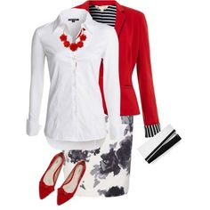 """""""Red White and Black"""" by victoria-victrairo on Polyvore"""
