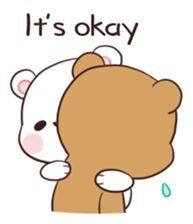 Bear Couple : Milk & Mocha by Shortie sticker Cute Bear Drawings, Kawaii Drawings, Cartoon Drawings, Cute Love Pictures, Cute Love Gif, Cute Couple Cartoon, Cute Love Cartoons, Cartoon Mignon, Kawaii 365
