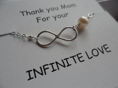 Mothers Gifts Sterling Silver Infinity by weddingbellsdesigns, $22.99