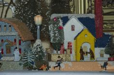Putz house..one of my favorites from 2011 mantel..Vintage Christmas Village