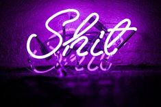 This neon light that'll make your shitty moods feel like rock-star realities. 23 Products That'll Make Your Home Obscene AF Violet Aesthetic, Dark Purple Aesthetic, Lavender Aesthetic, Neon Aesthetic, Purple Wallpaper Iphone, Neon Wallpaper, Aesthetic Pastel Wallpaper, Purple Wall Art, Purple Walls