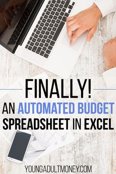 Finally there is an automated budget spreadsheet in Excel. This spreadsheet automates the most manual aspects of budgeting. It takes all the transactions from each of your cards, and automatically enters that data into your budget spreadsheet. Excel Budget, Budget Spreadsheet Template, Budget App, Money Budget, Budgeting Finances, Budgeting Tips, Making A Budget, Making Ideas, Budget Planer