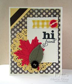 Handmade card by Marisa Ritzen using the Lean on Me stamp set from Verve. #vervestamps