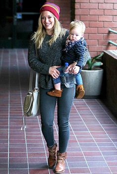 Hilary Duff with her son, Luca