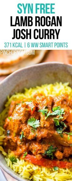 Syn Free Lamb Rogan Josh Curry Pinch Of Nom Slimming World Recipes 371 kcal Syn Free 6 Weight Watchers Smart Points Slimming World Lamb Curry, Slimming World Fakeaway, Slimming World Dinners, Slimming World Recipes Syn Free, Slimming World Diet, Slimming Eats, Fake Away Slimming World, Slimming Worls, Slimming World Desserts