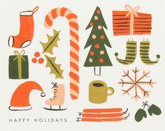 / paperchase xmas via print & pattern