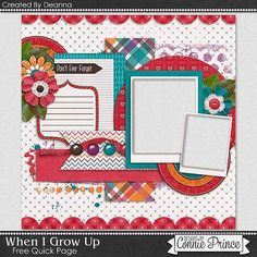 FREE When I Grow Up Quick Page Freebie By Deanna from Connie Prince