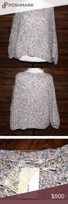 77332372ab5 MES DEMOISELLES PARIS Top Confetti Cali Pullover One Size. New With Tags.   345 Retail