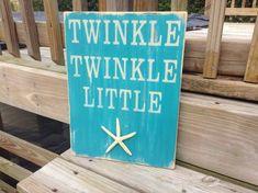 Beach Nursery Sign Twinkle Twinkle Starfish Nautical Coastal Decor Turquoise. $32.50, via Etsy.