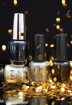 All that glitters, OPI Holiday bringing metallic nail color to your tips.