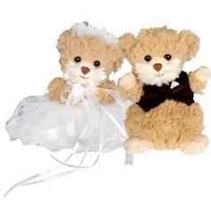 Bukowski's Wedding Pair ( 2 bears ) #Bukowski #teddy #teddybear #toy #gift #baby #teddywedding