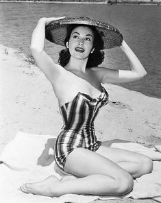 Mara Corday Vintage Dresses Bathing Suits Outfits Pinup Beauty