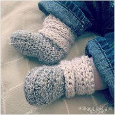 Download Now CROCHET PATTERN Slouchy Baby Boots by hollanddesigns